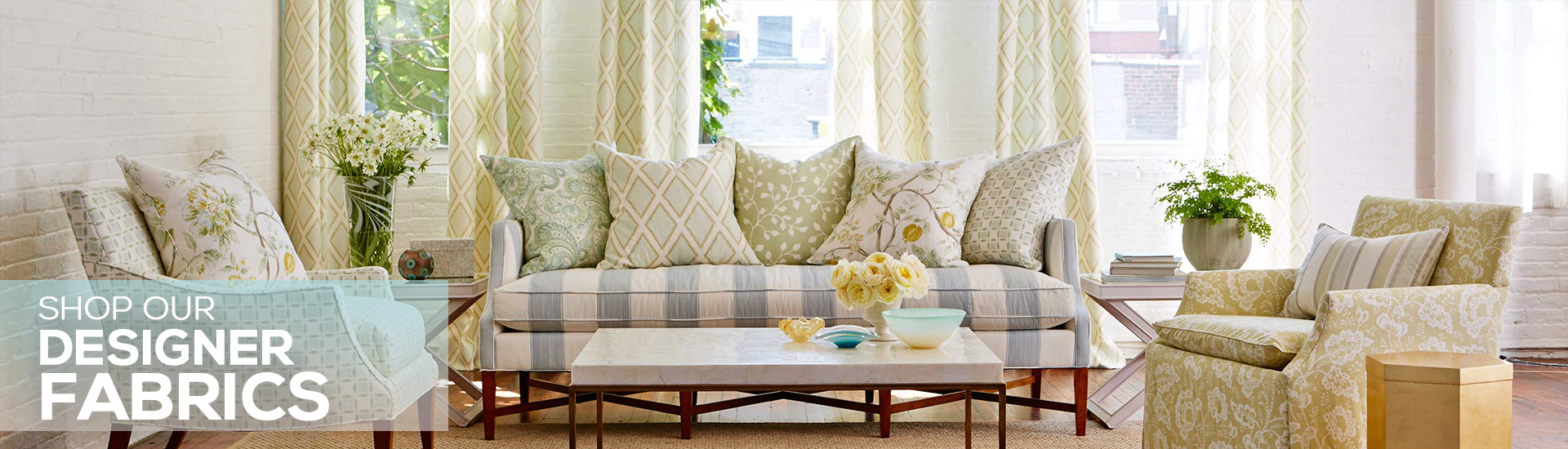 We Are Your Inside Source To Savings On Designer Fabrics, Upholstery Fabrics,  And Drapery Fabrics Online!