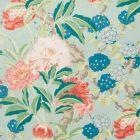 177390 Enchanted Garden Aqua Schumacher Fabric