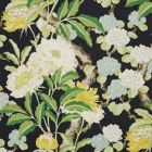 177391 Enchanted Garden Black Schumacher Fabric