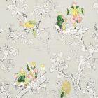 177421 Chinoiserie Moderne Soft Grey Schumacher Fabric