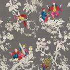 177422 Chinoiserie Moderne Graphite Schumacher Fabric