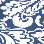 Quadrille San Marco Reverse Navy on Almost White 2335-50WP Wallpaper