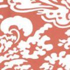 Quadrille San Marco Reverse Terracotta on Almost White 2335-49WP Wallpaper