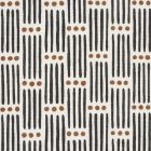 177710 Dotted Stripe Carbon Schumacher Fabric