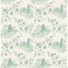 2657-22220 Laure Green Toile Brewster Wallpapers