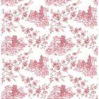 2657-22221 Laure Merlot Toile Brewster Wallpapers