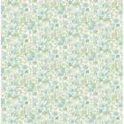 2657 22216 Elsie Teal Floral Brewster Wallpapers
