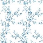 2657-22261 Claire Blue Floral Trail  Brewster Wallpapers