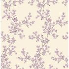 2657-22264 Claire Purple Floral Trail Brewster Wallpapers