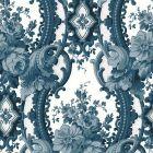 2763-24216 Dreamer Blue Damask Brewster Wallpaper
