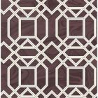 2763-24223 Daphne Maroon Trellis Brewster Wallpaper
