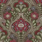 2763-12105 Night Bloom Chocolate Damask Brewster Wallpaper