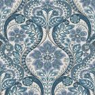 2763-12102 Night Bloom Blue Damask Brewster Wallpaper