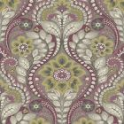 2763-12103 Night Bloom Grey Damask Brewster Wallpaper