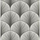 2763-24230 Dusk Grey Frond Brewster Wallpaper