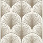 2763-24231 Dusk Taupe Frond Brewster Wallpaper