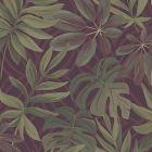 2763 24243 Nocturnum Maroon Leaf Brewster Wallpaper