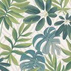 2763 24200 Nocturnum White Leaf Brewster Wallpaper