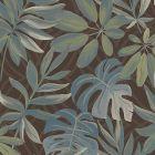 2763 24202 Nocturnum Brown Leaf Brewster Wallpaper