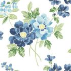 2656 004064 Claressa Blueberry Floral Large Brewster Wallpaper