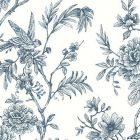 2763 24235 Jessamine Blue Floral Trail Brewster Wallpaper