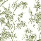 2763 24234 Jessamine Green Floral Trail Brewster Wallpaper