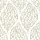 2656 004063 Arboretum Honey Leaves Brewster Wallpaper