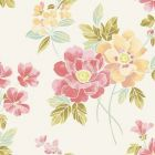 2656 004004 Claressa Apricot Floral Brewster Wallpaper