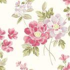 2656 004022 Claressa Pink Floral Brewster Wallpaper
