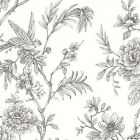 2763 24237 Jessamine Grey Floral Trail Brewster Wallpaper