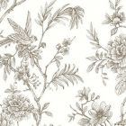 2763 24236 Jessamine Taupe Floral Trail Brewster Wallpaper