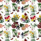 WNM 0001FLOR FLORA & FAUNA White Scalamandre Wallpaper