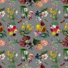 WNM 0005FLOR FLORA & FAUNA Gray Scalamandre Wallpaper