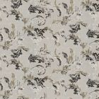 2619-M7003 Piana Pewter Leaf Scroll Brewster Wallpaper