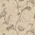 2619-Z4960 Lovera Grey Jacobean Floral Scroll Brewster Wallpaper
