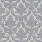 492-2010 Bigelow Blue Fabric Damask Brewster Wallpaper