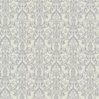 492-2004 Abelle Grey Damask Swirl Brewster Wallpaper