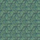 PS41404 INTERTWINED Dark Green Geometric Brewster Wallpaper