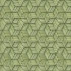 PS41414 INTERTWINED Green Geometric Brewster Wallpaper