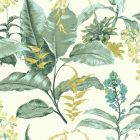 PS41804 MAUI Green Botanical Brewster Wallpaper