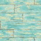 PS41002 SHIPWRECK Aquamarine Wood Brewster Wallpaper