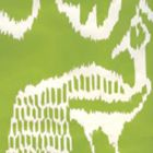 2430-52WP BALI II Chartreuse On Almost White Quadrille Wallpaper