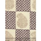 5090-01 BANGALORE Taupe Brown on Tint Quadrille Fabric