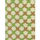 4120-06 DOUBLE CROSS Camel II with Jungle Green Quadrille Fabric