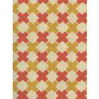 4120-04 DOUBLE CROSS Inca Gold with New Shrimp Quadrille Fabric