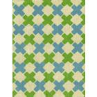 4120-03WSUN DOUBLE CROSS New Blue with Jungle Green Quadrille Fabric
