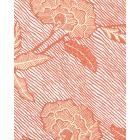 4060M-04WP FLORES II Orange Cream On White Quadrille Wallpaper