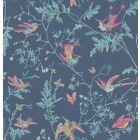 100/14068-CS HUMMINGBIRDS Indigo Multi-Colour Cole & Son Wallpaper