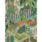 105/4017-CS MIAMI Green And Coral Cole & Son Wallpaper