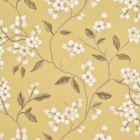 BW45039-5 APPLE BLOSSOM Yellow Ivory GP & J Baker Wallpaper